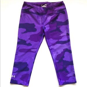 Purple Under Armour army fatigue print leggings